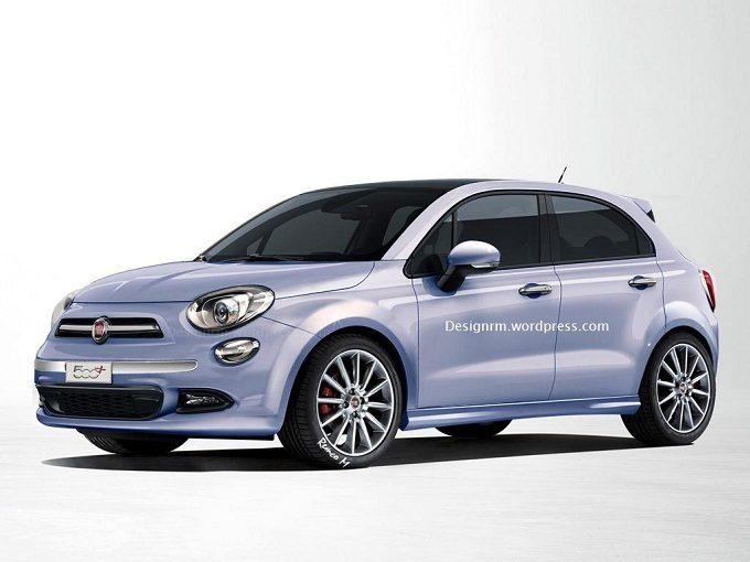 Fiat 500 cinque porte render