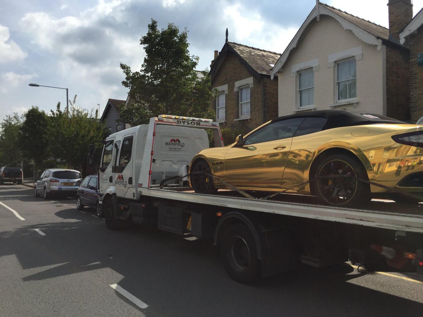 Maserati GranCabrio d'oro